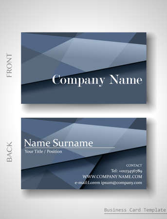 Colorful Business Card Template Front And Back View Royalty Free - Front and back business card template