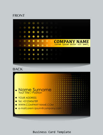 Template of front and back view of business card Vector