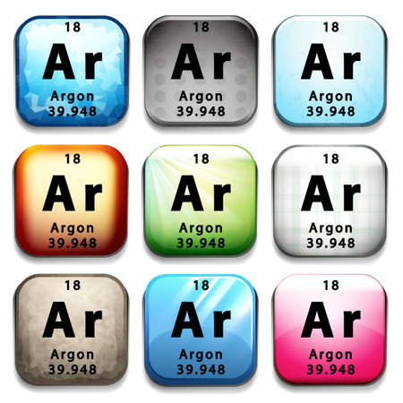 argon: Illustration of an element argon
