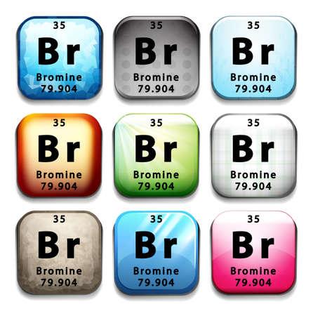 subatomic: Illustration of an element bromine