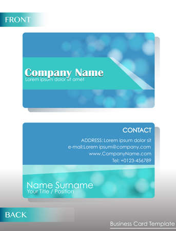contact details: A blue card template Illustration
