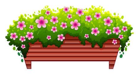 하나의 꽃 침대의 그림 일러스트