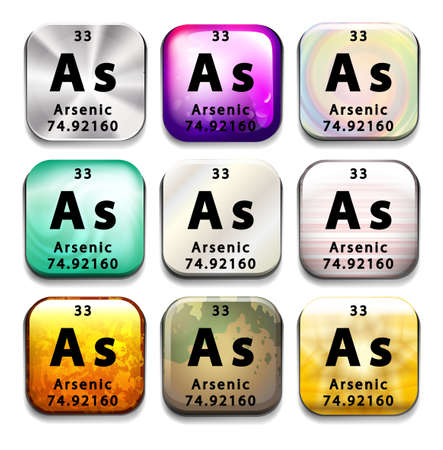Illustration of an element arsenic Vector