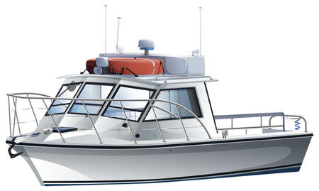 fueled: A sea vessel on a white background