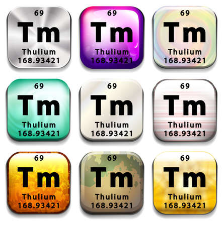 tabular: A periodic table button showing the Thulium on a white background