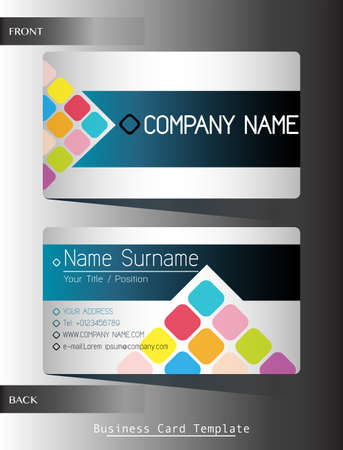 contact details: A front and back business card template