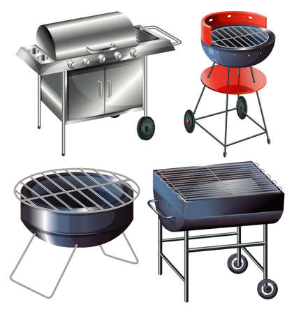 propane: Grilling sets on a white background
