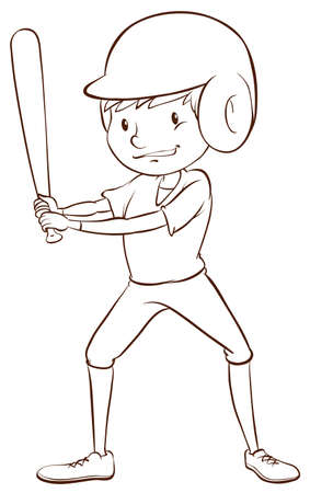contingent: A baseball player on a white background