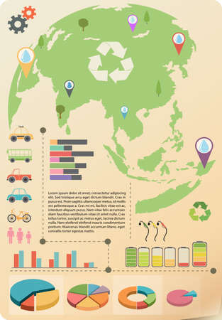 concise: A colourful infographics of the Earth
