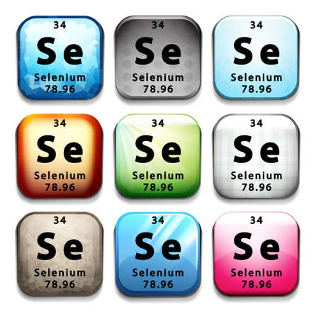 A button showing the element Selenium on a white background