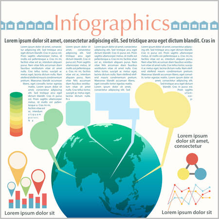 concise: The Earths colorful infographics on a white background
