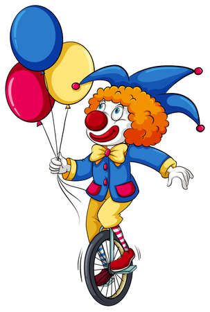 A clown with balloons on a white background Vector