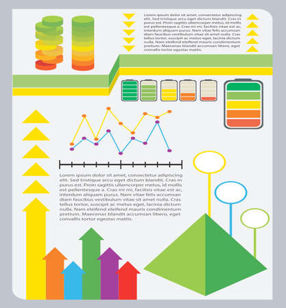 graphical: A colourful graphical representation of information