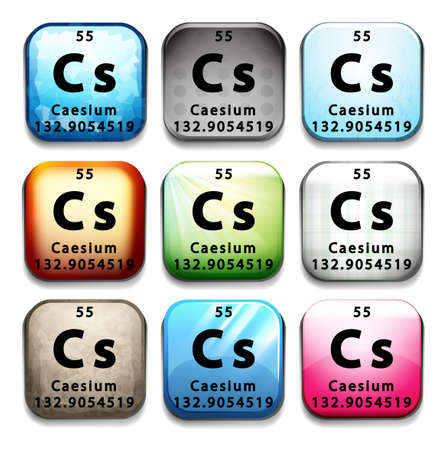 cs: An icon showing the element Caesium on a white background