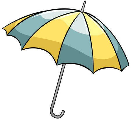 handheld device: An umbrella on a white background