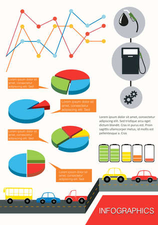 concise: Infographics of the vehicles on a white background Illustration