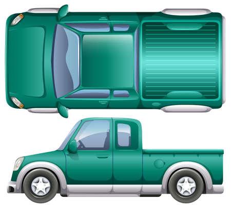 pick up: A pick up car on a white background Illustration