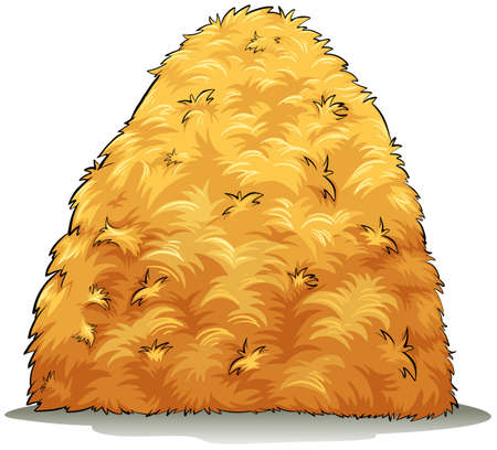 haystack: An image showing a haystack on a white background