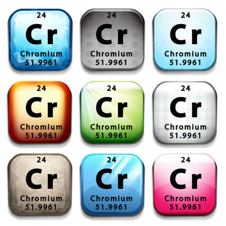 cr: A Chromium element on a white background