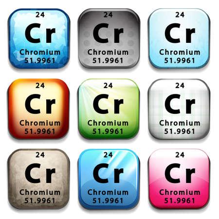 chromium: A Chromium element on a white background