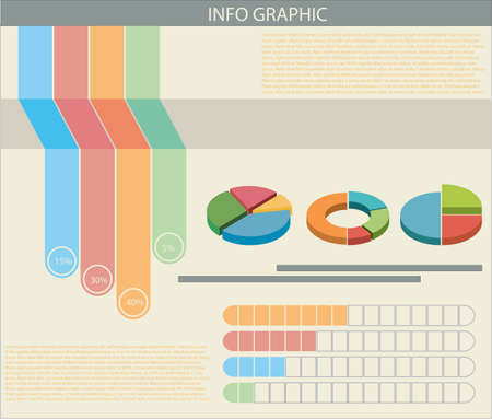 An informative chart with colourful graphs Illustration