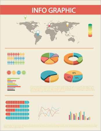 concise: A graphical interface with different graphs Illustration