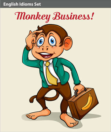 attache: An idiom showing a monkey business