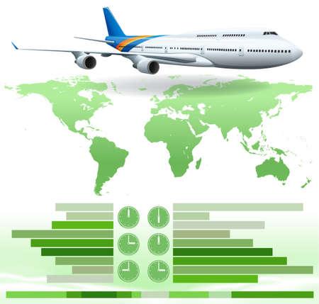 infochart: An infochart showing a plane on a white background