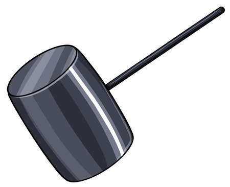 drive nail: An object showing the hitting the road idiom on a white background