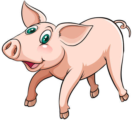 flying pig: An idiom showing a flying pig on a white background Illustration