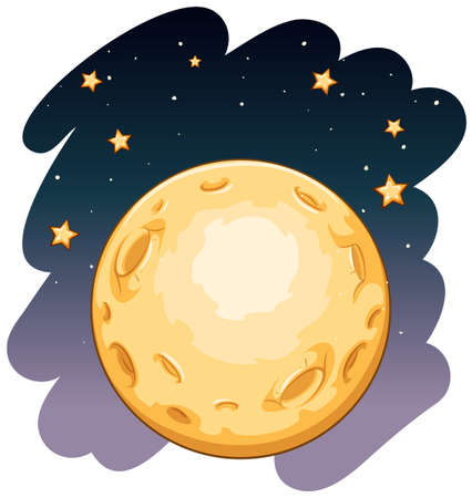 literal: Over the moon idiom on a white background