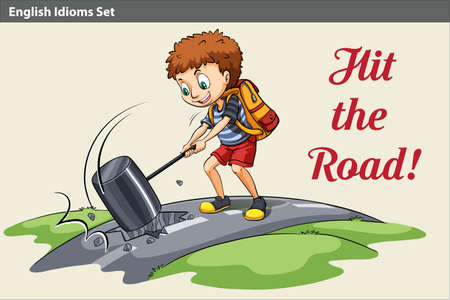 figurative: A poster showing a boy hitting the road