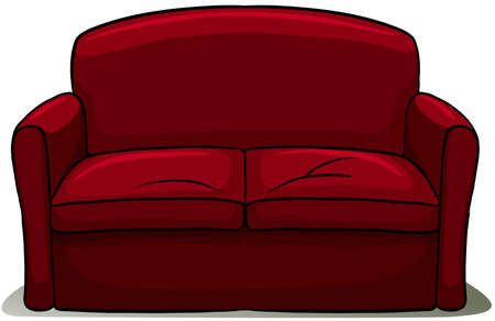 An idiom showing a couch potato on a white background