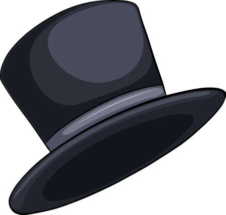 An idiom showing a hat on a white background