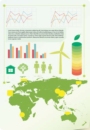 infochart: A colourful infochart showing the environment