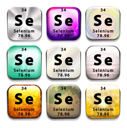 selenium: An icon showing the chemical Selenium on a white background