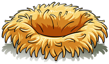 animal nest: A birds nest on a white background Illustration