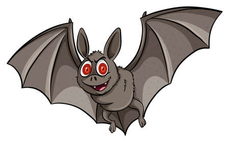 mobbing: A bat on a white background Illustration