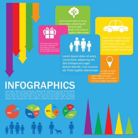 infochart: A colourful infochart on a blue background