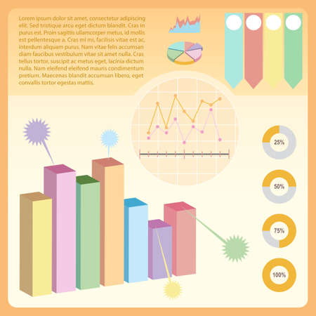 concise: An infographics with bar graphs