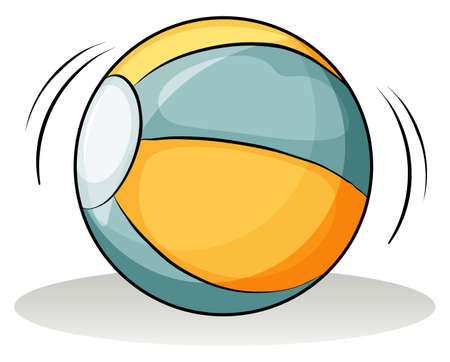 thrown: A ball on a white background Illustration