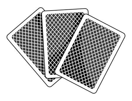 idiom: Poker face idiom on a white background Illustration