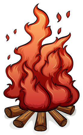 adding: Adding fuel to the fire idiom on a white background Illustration