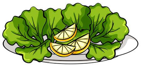 salatdressing: Eine Platte mit Gem�se auf einem wei�en Hintergrund