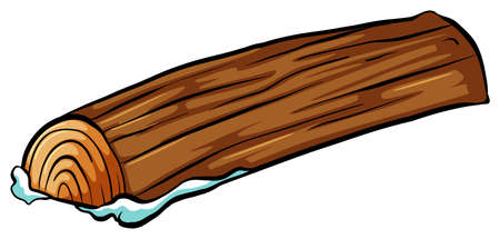 cut logs: A log on a white background Illustration