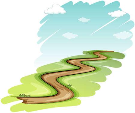 Une voie sur un fond blanc