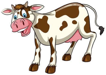 manure: A cow on a white background