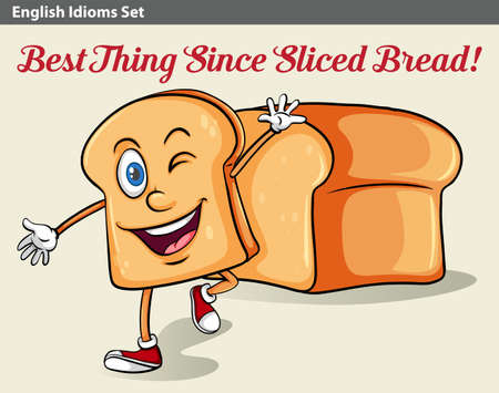 figurative art: An idiom showing a sliced bread Illustration