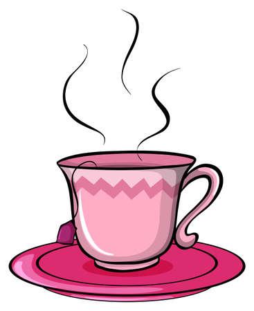 Kopje thee op een witte achtergrond Stock Illustratie