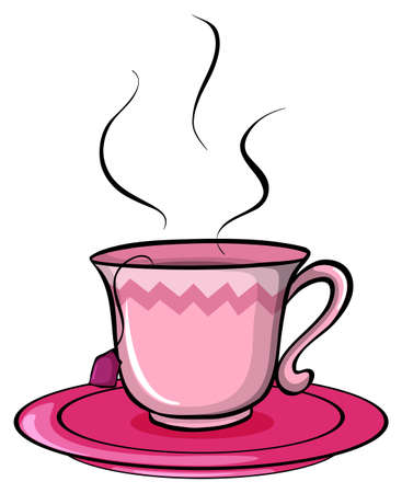 Cup of tea on a white background Illustration